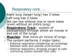 respiratory cont
