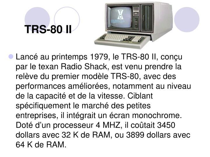 TRS-80 II