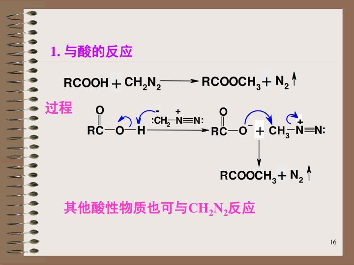 1. 与酸的反应
