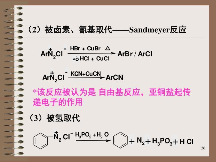 (2)被卤素、氰基取代——