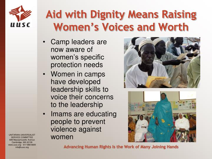 Aid with Dignity Means Raising Women's Voices and Worth