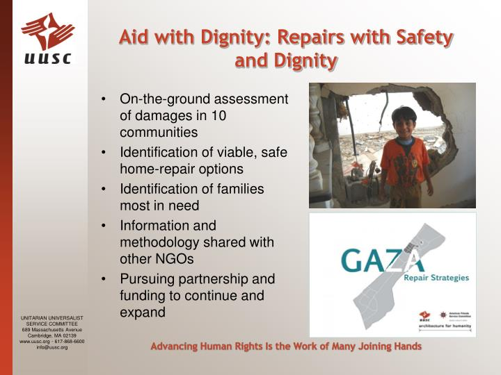 Aid with Dignity: Repairs with Safety and Dignity