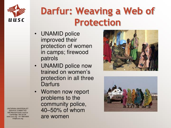 Darfur: Weaving a Web of Protection