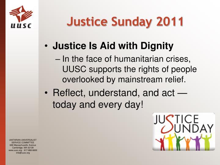 Justice Sunday 2011