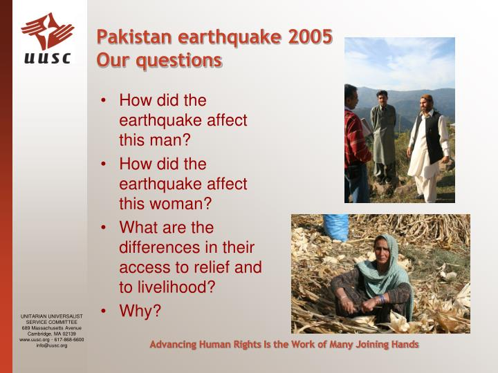 Pakistan earthquake 2005