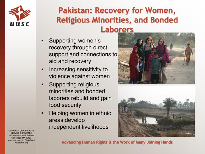 Pakistan: Recovery for Women, Religious Minorities, and Bonded Laborers