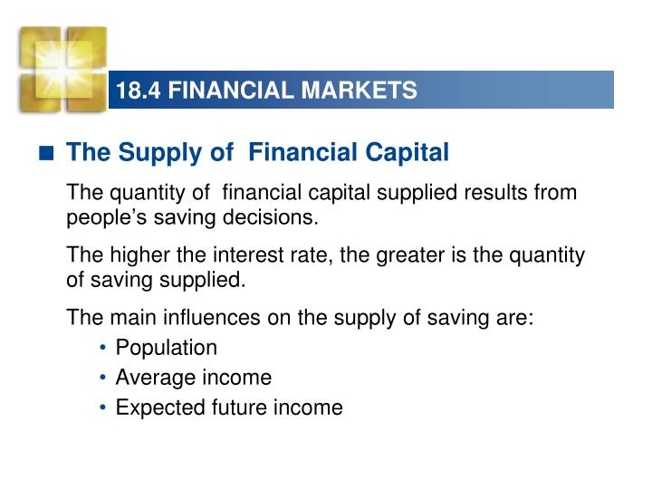 18.4 FINANCIAL MARKETS