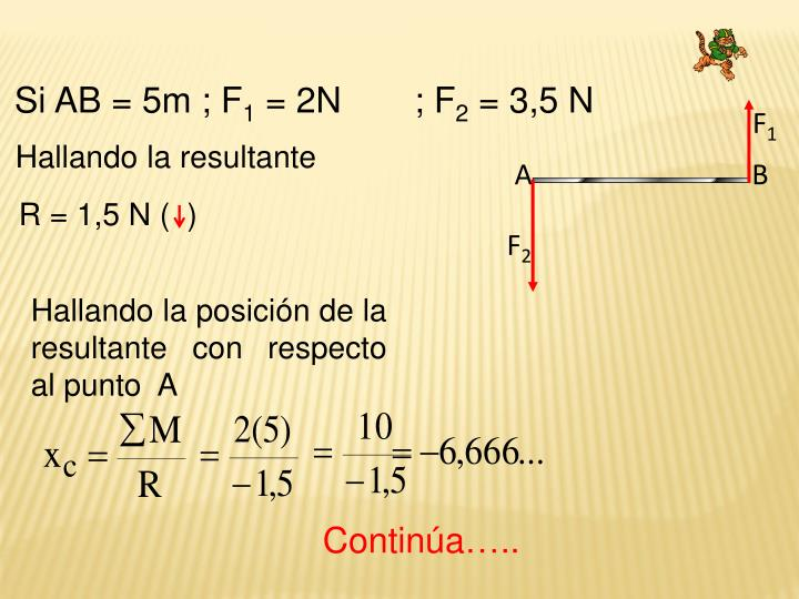Si AB = 5m ; F