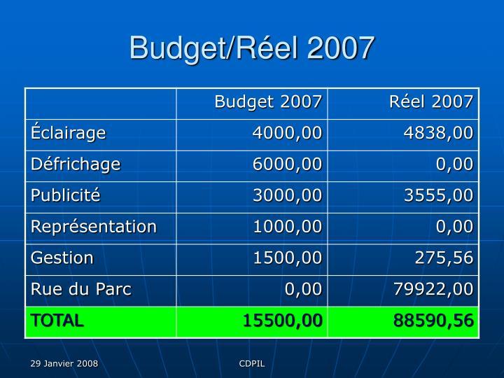 Budget/Réel 2007