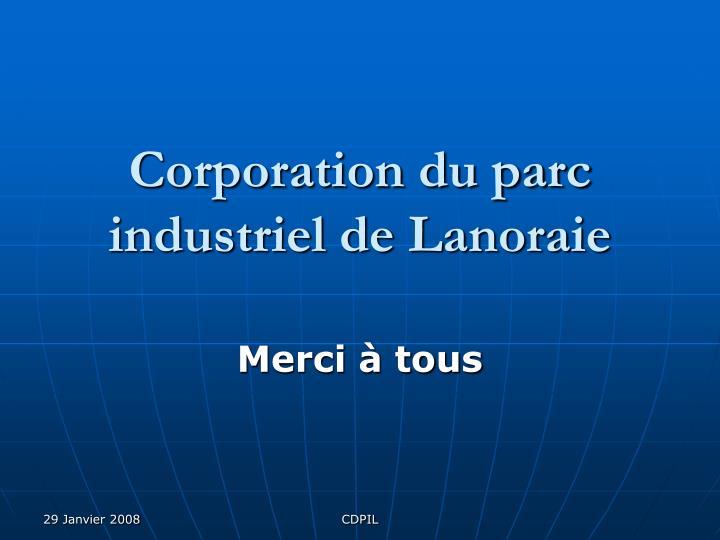 Corporation du parc industriel de Lanoraie