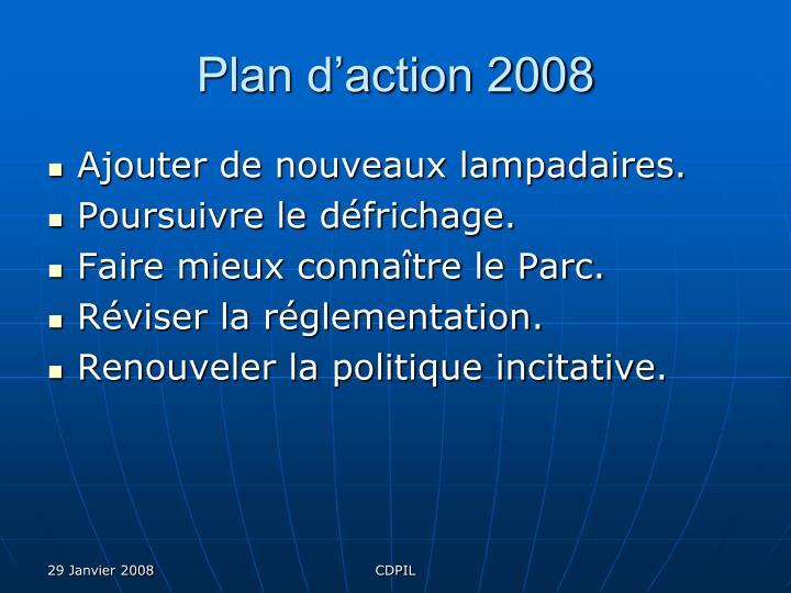 Plan d'action 2008