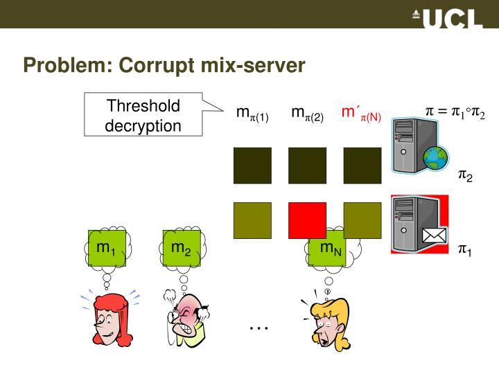 Problem: Corrupt mix-server
