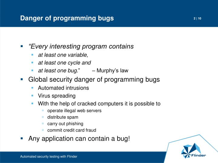 Danger of programming bugs