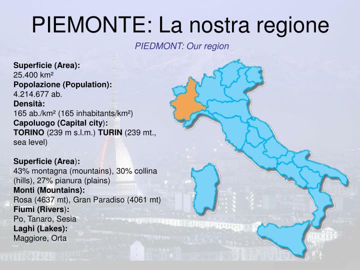 PIEMONTE: La nostra regione
