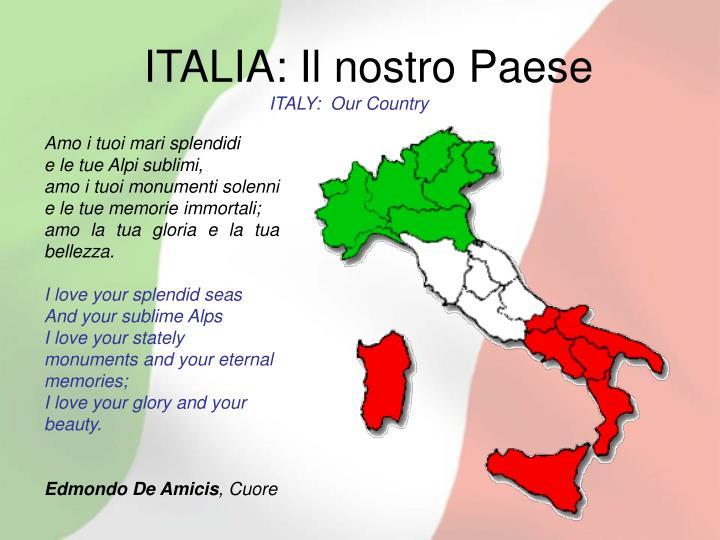 ITALIA: Il nostro Paese