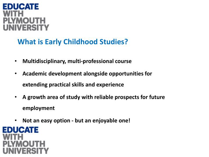 What is Early Childhood Studies?