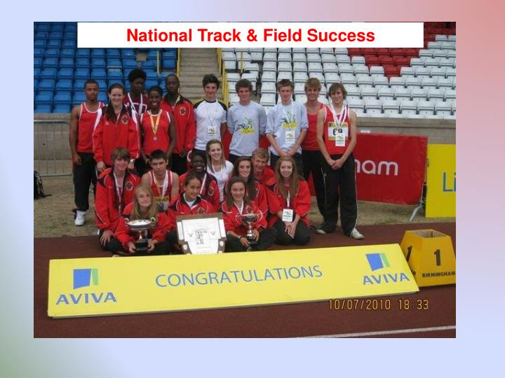National Track & Field Success