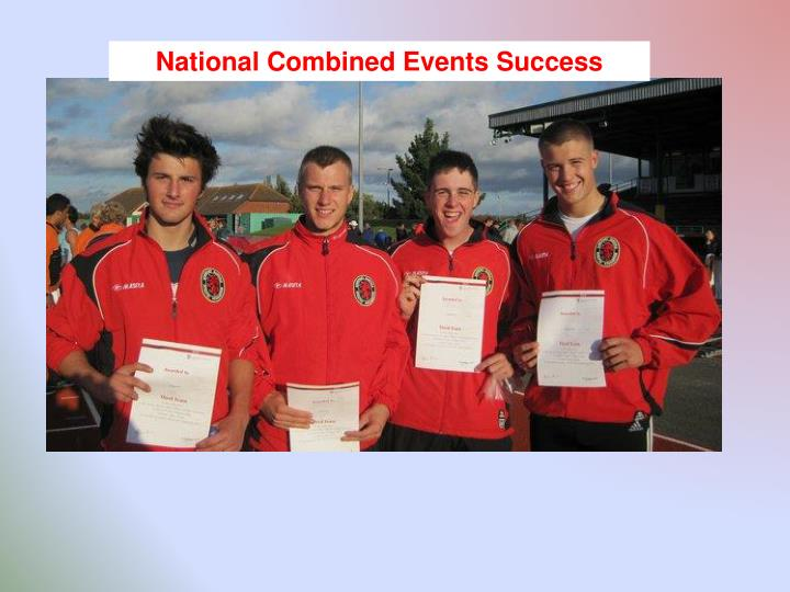 National Combined Events Success