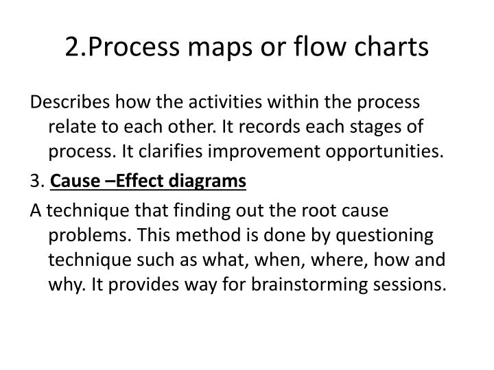 2.Process maps or flow charts