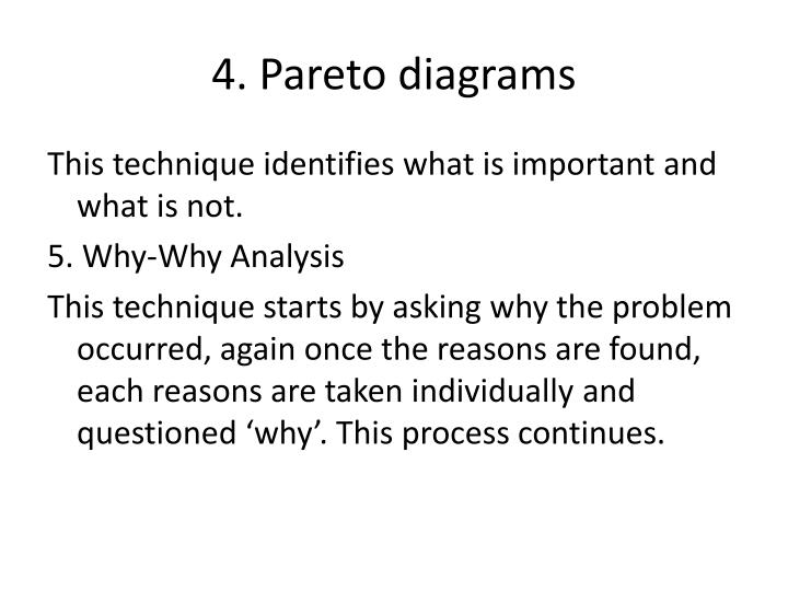 4. Pareto diagrams