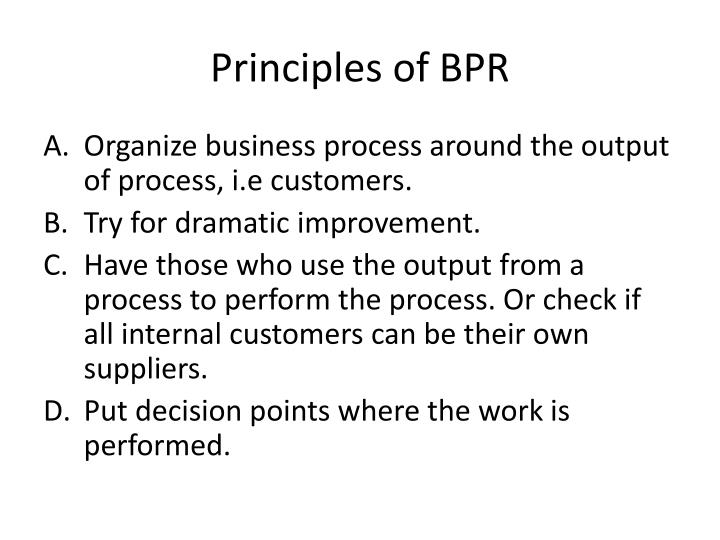 Principles of BPR