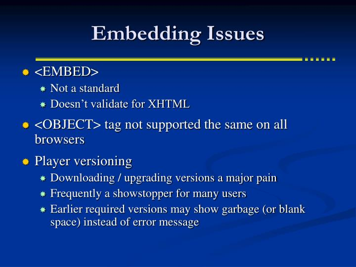 Embedding Issues