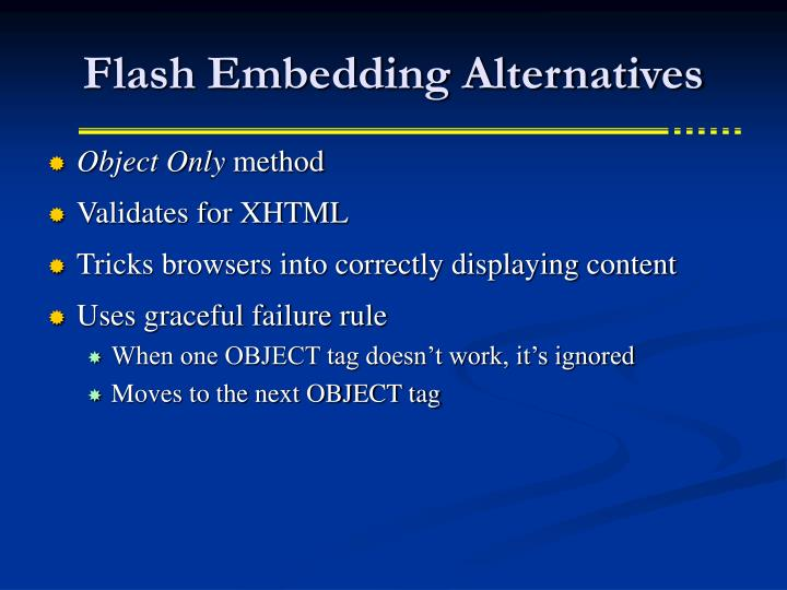 Flash Embedding Alternatives