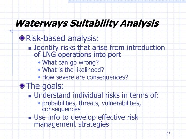 Waterways Suitability Analysis