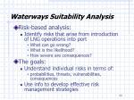 waterways suitability analysis