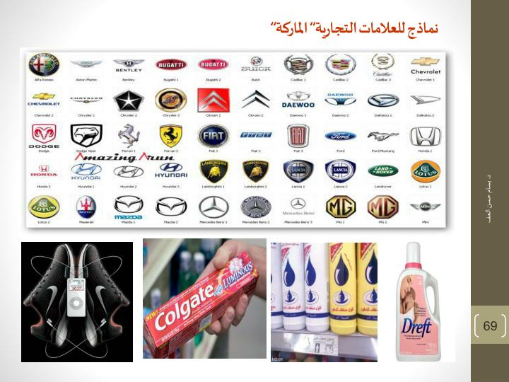 """نماذج للعلامات التجارية"""" الماركة"""""""