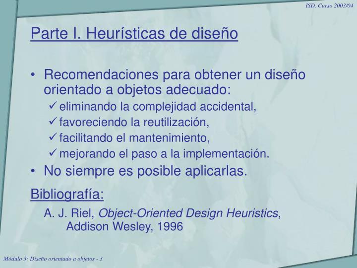 Parte I. Heurísticas de diseño
