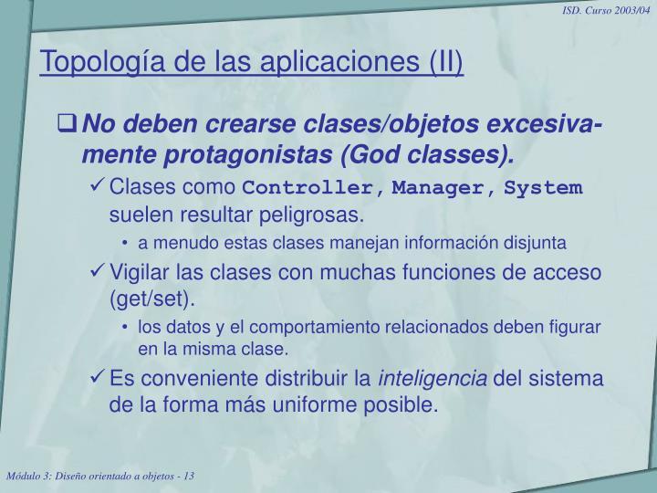 Topología de las aplicaciones (II)