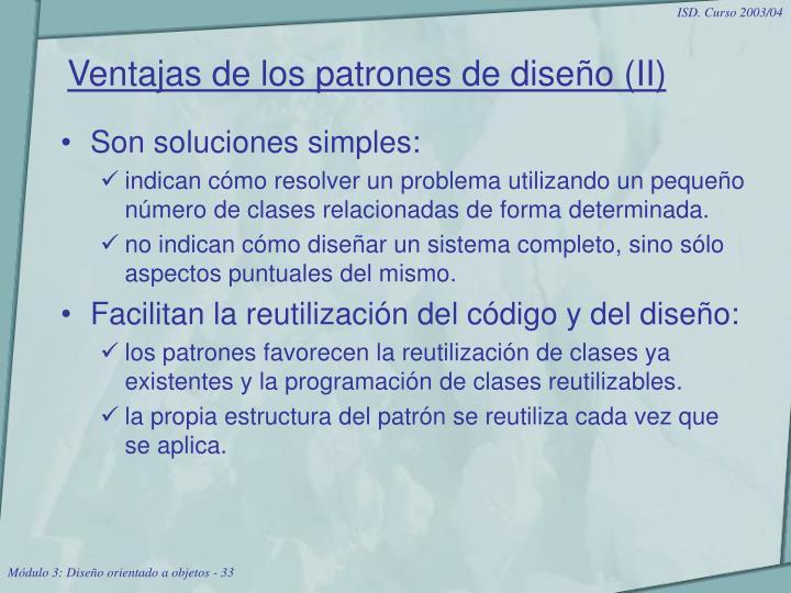 Ventajas de los patrones de diseño (II)