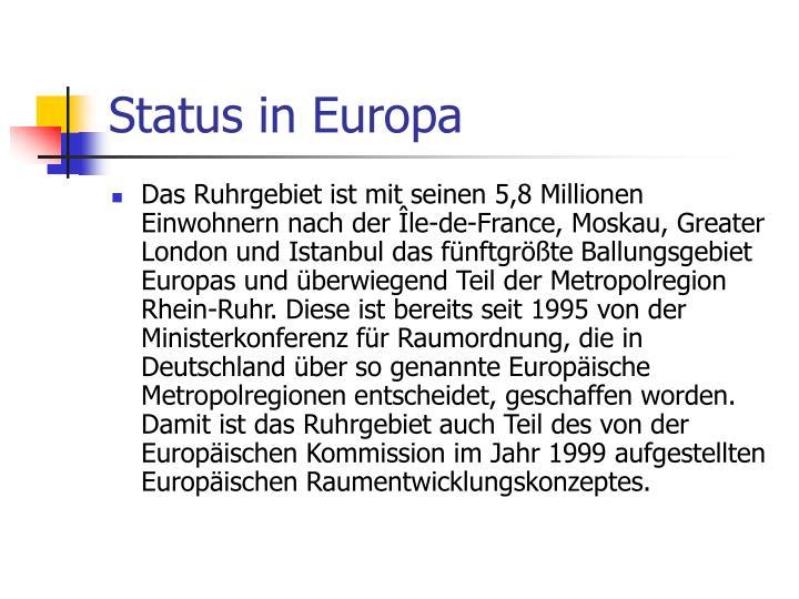 Status in Europa