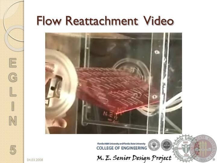 Flow Reattachment  Video