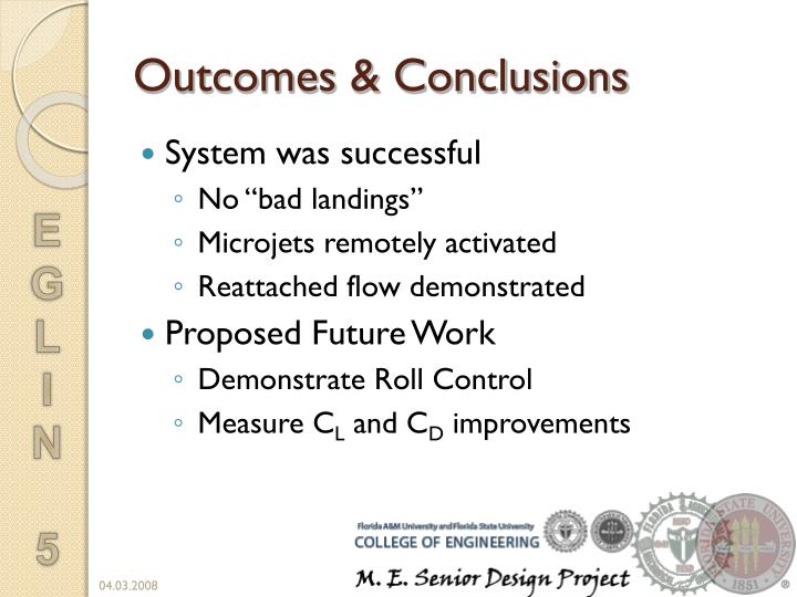 Outcomes & Conclusions