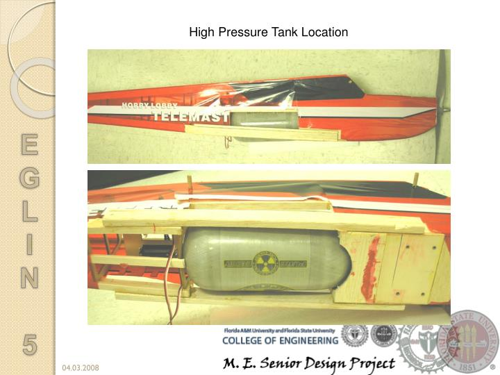 High Pressure Tank Location