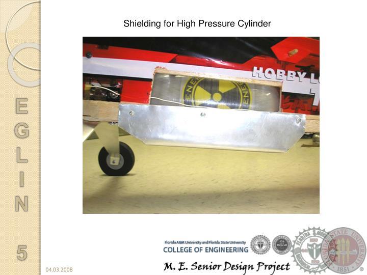 Shielding for High Pressure Cylinder