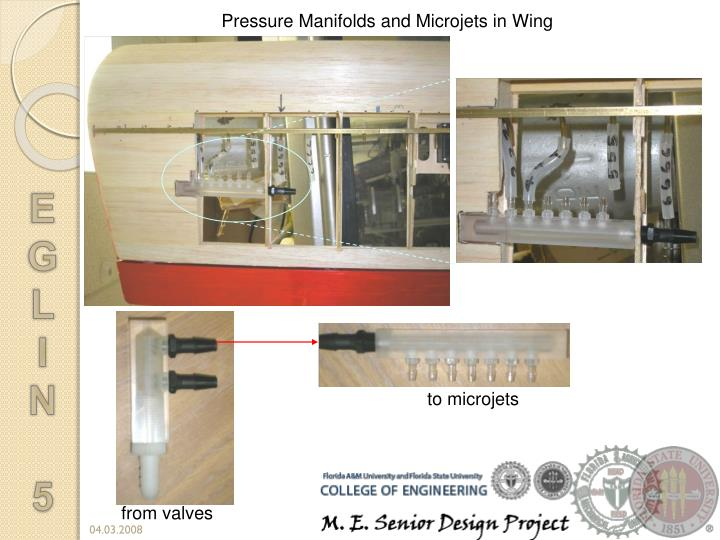 Pressure Manifolds and Microjets in Wing