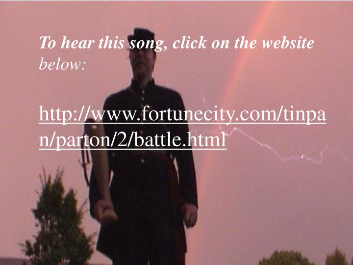 To hear this song, click on the website