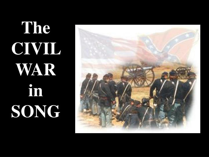 The civil war in song