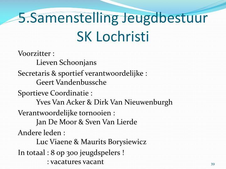 5.Samenstelling Jeugdbestuur SK Lochristi