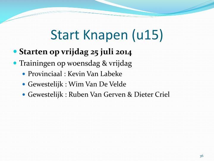 Start Knapen (u15)