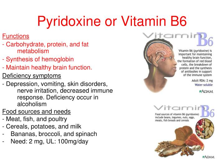 Pyridoxine or Vitamin B6