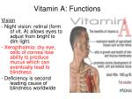 vitamin a functions