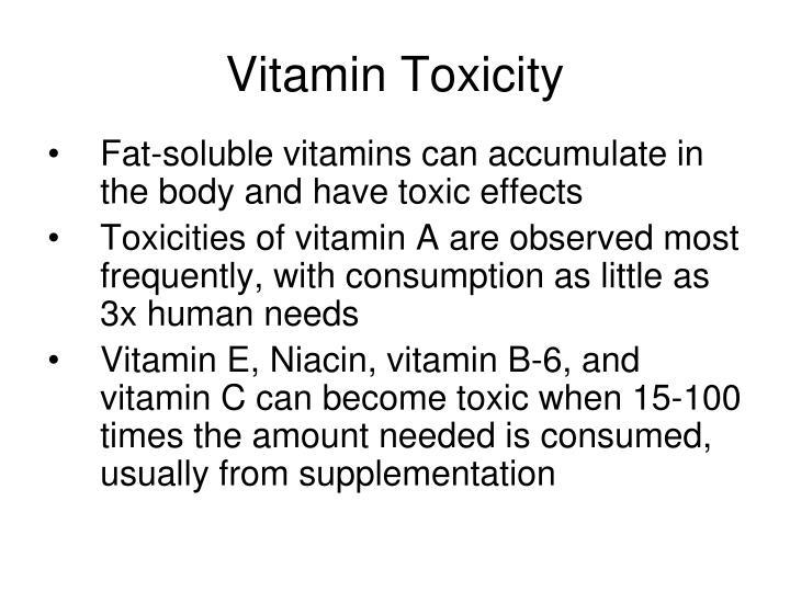 Vitamin Toxicity