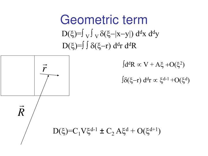 Geometric term