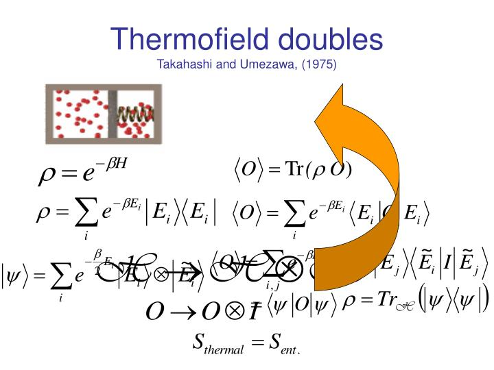 Thermofield doubles