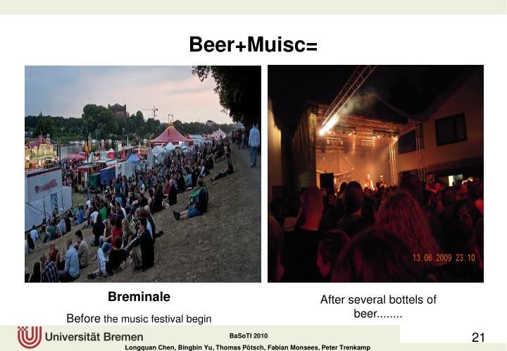 Beer+Muisc=
