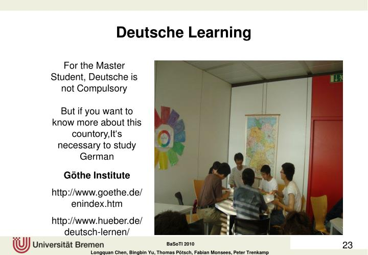 Deutsche Learning
